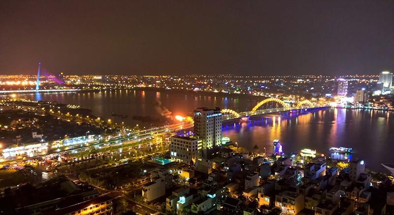 Hình ảnh Đà Nẵng về đêm. Ảnh minh họa