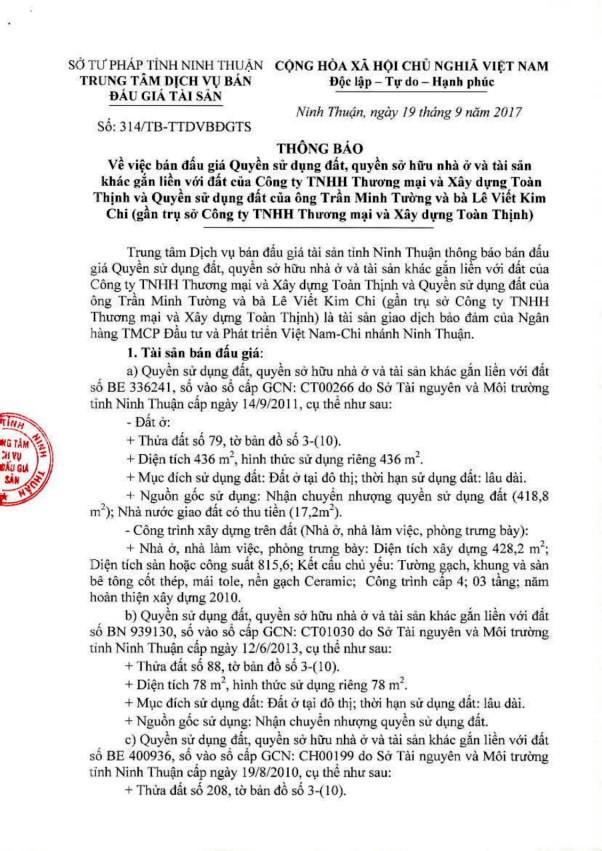 Đấu giá quyền sử dụng đất tại TP.Phan Rang-Tháp Chàm, Ninh Thuận - ảnh 1
