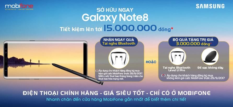 """Chương trình đặt trước Samsung Galaxy Note 8 tiếp tục """"hút"""" khách hàng quan tâm"""