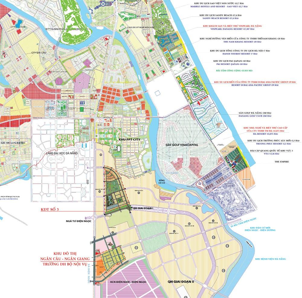 Sơ đồ quy hoạch Làng Đại học Đà Nẵng.
