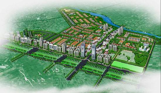 Phối cảnh tổng thể khu đô thị S4. Ảnh: HNM