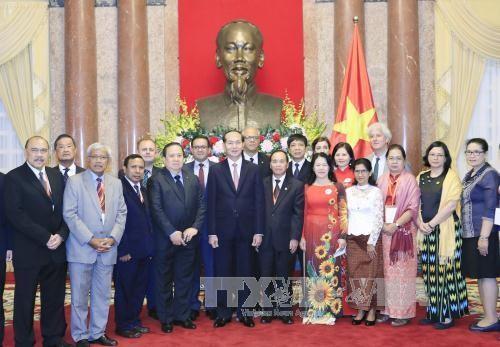Chủ tịch nước tiếp đoàn đại biểu Hội Chữ thập đỏ-Trăng lưỡi liềm đỏ - ảnh 1