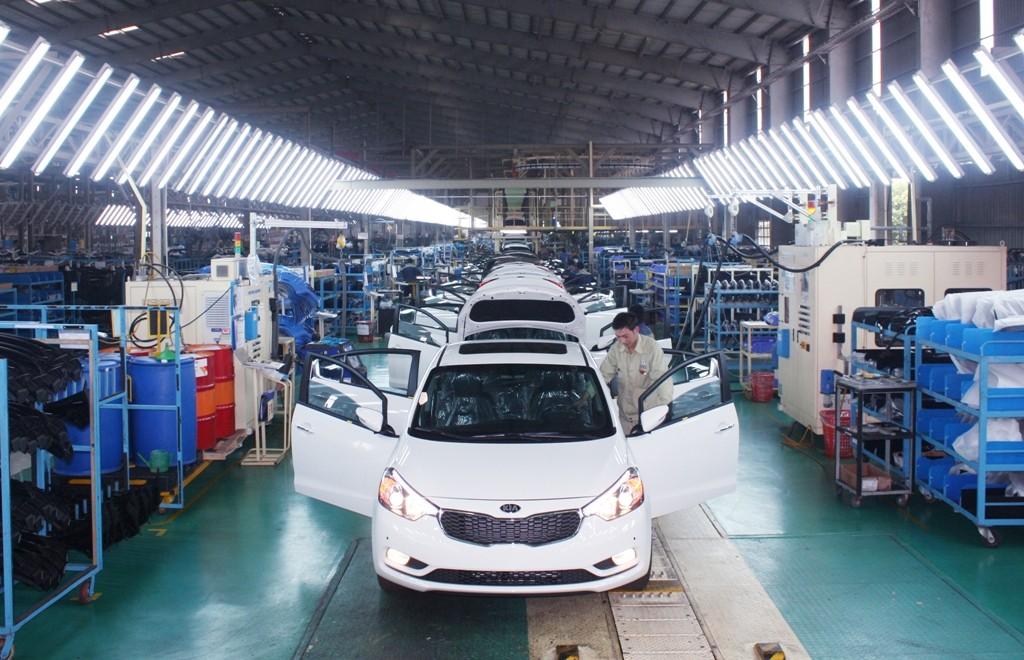 Kinh tế tư nhân là động lực thúc đẩy phát triển kinh tế của tỉnh Quảng Nam. Trong ảnh: Nhà máy sản xuất, lắp ráp ô tô Trường Hải. Ảnh: VGP