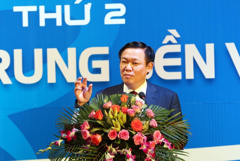 Phó Thủ tướng Vương Đình Huệ phát biểu tại Diễn đàn - Ảnh: VGP