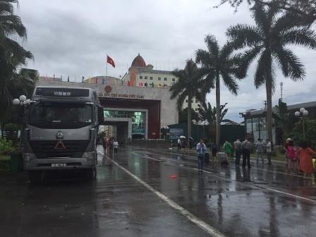 Cửa khẩu Móng Cái- Quảng Ninh.