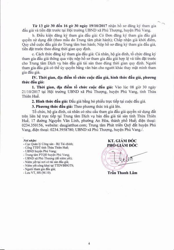 Đấu giá quyền sử dụng đất tại huyện Phú Vang, Thừa Thiên Huế - ảnh 4