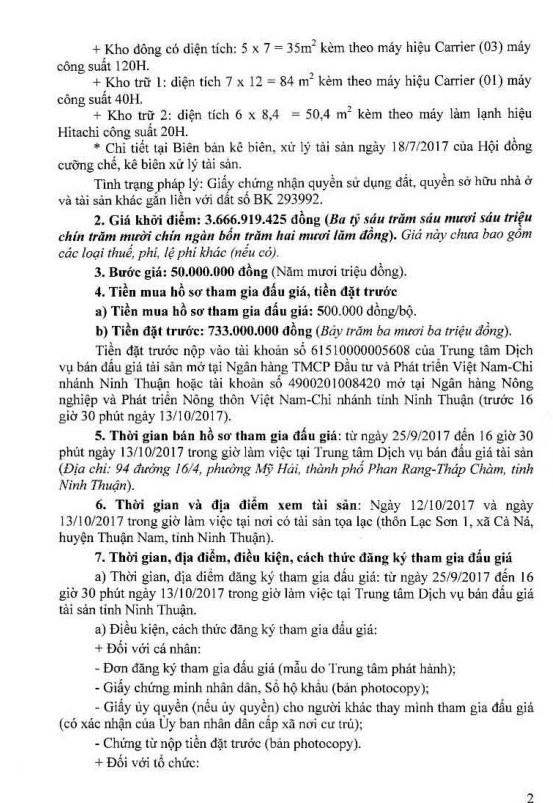 Đấu giá quyền sử dụng đất, quyền sở hữu nhà và TSGLVĐ tại huyện Thuận Nam, Ninh Thuận - ảnh 2