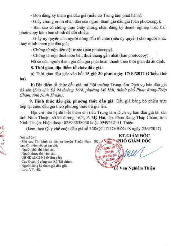 Đấu giá quyền sử dụng đất, quyền sở hữu nhà và TSGLVĐ tại huyện Thuận Nam, Ninh Thuận - ảnh 3