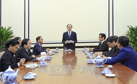 Chủ tịch nước làm việc với lãnh đạo Hội đồng Tư vấn kinh doanh APEC Việt Nam