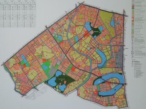 Phối cảnh tổng thể Quy hoạch phân khu đô thị H2-1. Ảnh: Báo Xây dựng
