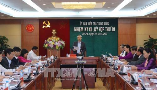 Chiều 7/11/2017, tại Hà Nội, Ủy ban Kiểm tra Trung ương khai mạc kỳ họp thứ 19, nhiệm kỳ XII. Trong ảnh: Quang cảnh khai mạc kỳ họp. Ảnh: TTXVN