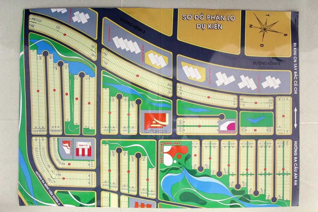 Dù chưa đâu vào đâu nhưng Công ty Cổ phần Địa ốc Alibaba bản đã vẽ sơ đồ phân lô dự kiến để bán.