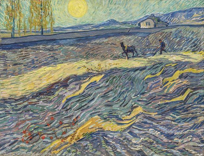 Bức họa Laboureur dans un champ của danh họa Hà Lan Van Gogh.