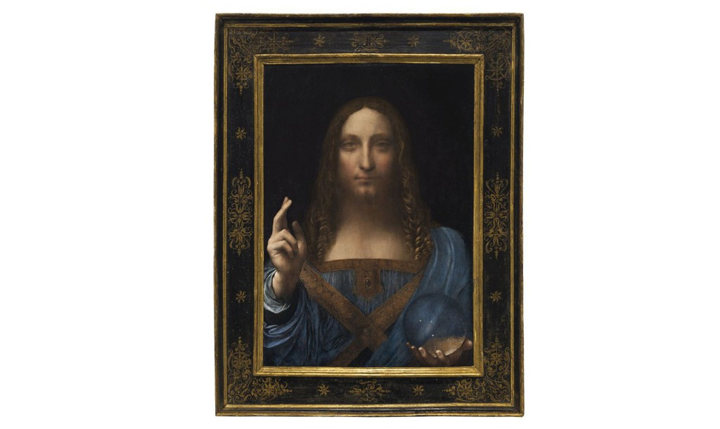 Bức tranh Salvator Mundi của danh họa Leonardo da Vinci - Ảnh: Christie's