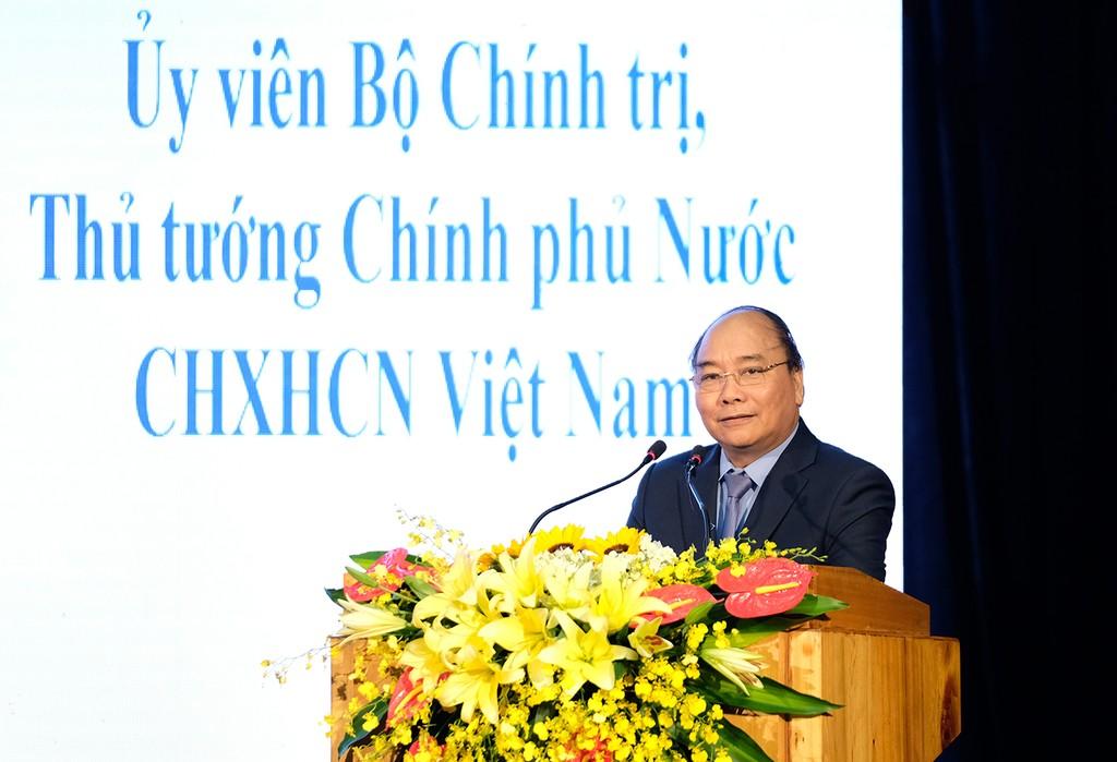 Thủ tướng Nguyễn Xuân Phúc phát biểu tại Hội nghị. - Ảnh: VGP