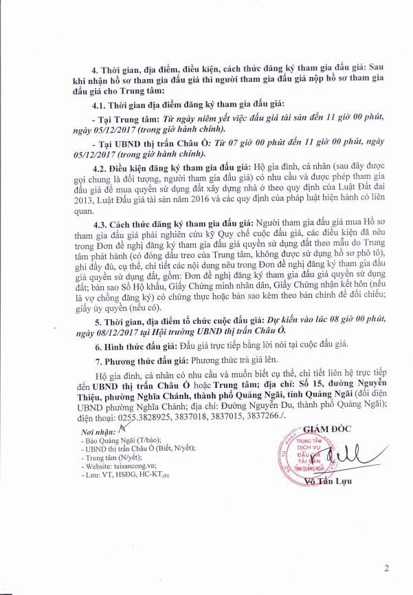 Đấu giá quyền sử dụng đất tại huyện Bình Sơn, Quảng Ngãi - ảnh 2