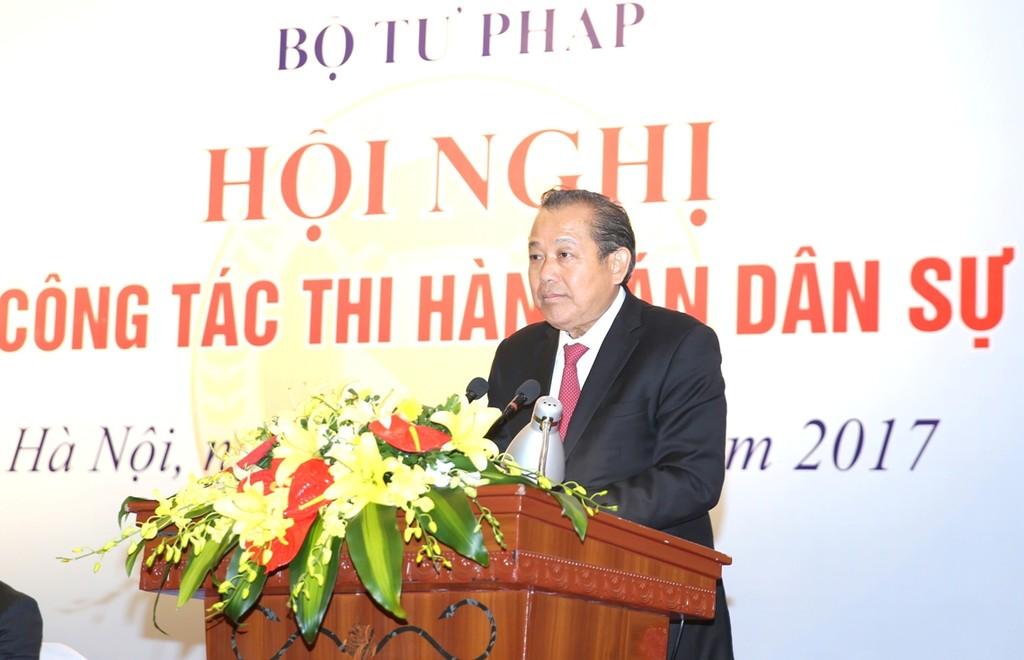 Phó Thủ tướng Thường trực Chính phủ Trương Hòa Bình phát biểu chỉ đạo Hội nghị. - Ảnh: VGP
