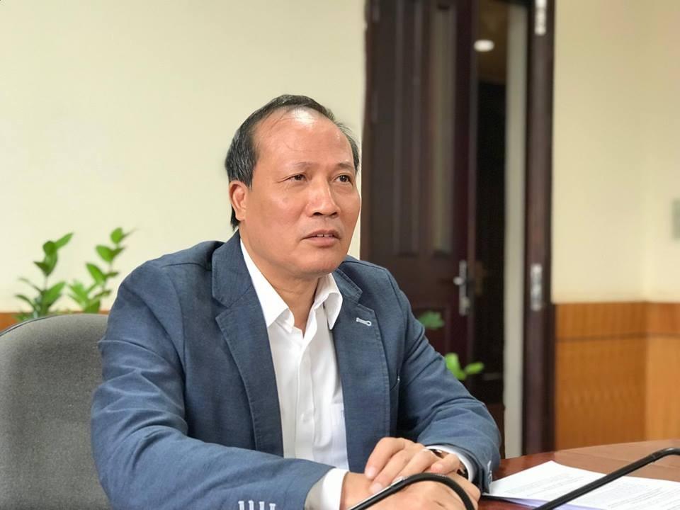 Thứ trưởng Bộ Công Thương Cao Quốc Hưng tại buổi họp báo. Ảnh: VGP