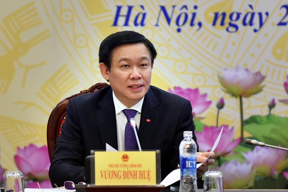 Phó Thủ tướng Vương Đình Huệ phát biểu chỉ đạo tại buổi khảo sát. Ảnh: VGP