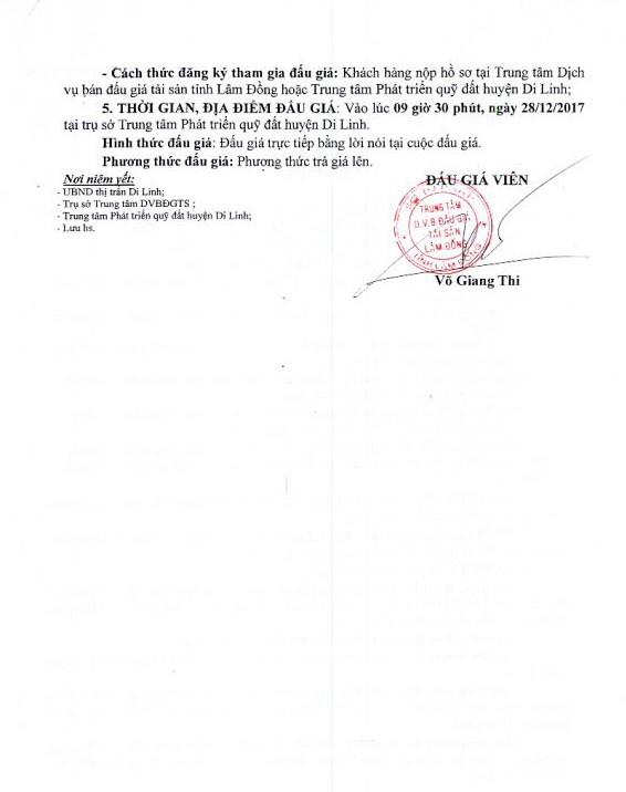 Đấu giá quyền sử dụng đất tại huyện Di Linh, Lâm Đồng - ảnh 2