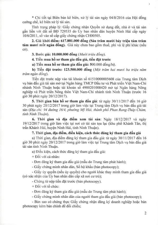 Đấu giá quyền sử dụng đất tại huyện Ninh Hải, Ninh Thuận - ảnh 2