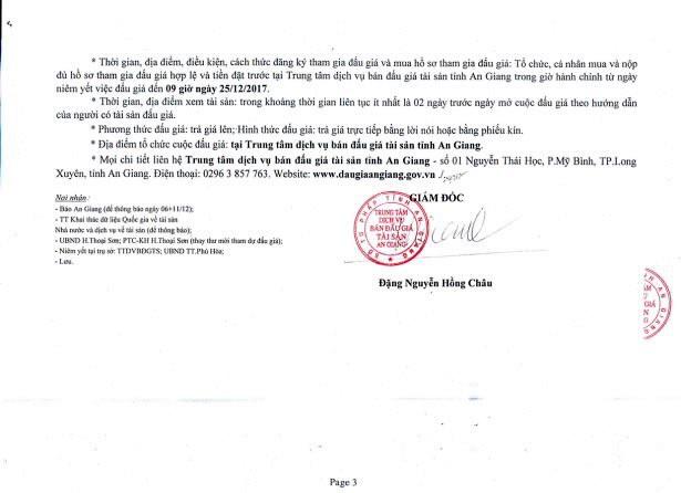 Đấu giá quyền sử dụng đất tại huyện Thoại Sơn, An Giang - ảnh 3