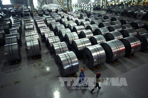 Quyết định sơ bộ về điều tra đối với thép các bon và thép cán nguội nhập khẩu. Ảnh minh họa: TTXVN