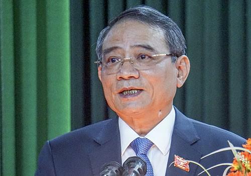 Ông Trương Quang Nghĩa phát biểu trước cử tri Đà Nẵng. Ảnh: Đ.X.