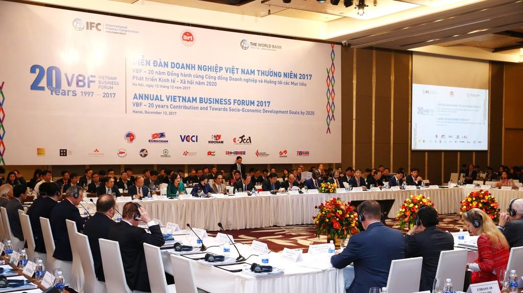 Quang cảnh Diễn đàn Doanh nghiệp Việt Nam (VBF) 2017. Ảnh: Lê Tiên