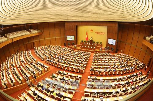 Quang cảnh khai mạc kỳ họp thứ 4, Quốc hội khóa XIV. Ảnh: TTXVN