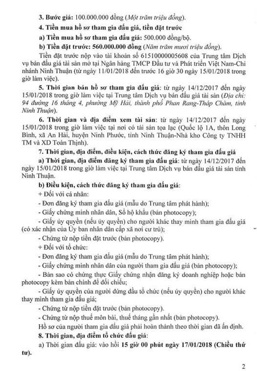 Đấu giá quyền sử dụng đất, quyền sở hữu nhà và TSKGLVĐ tại huyện Ninh Phước, Ninh Thuận - ảnh 2