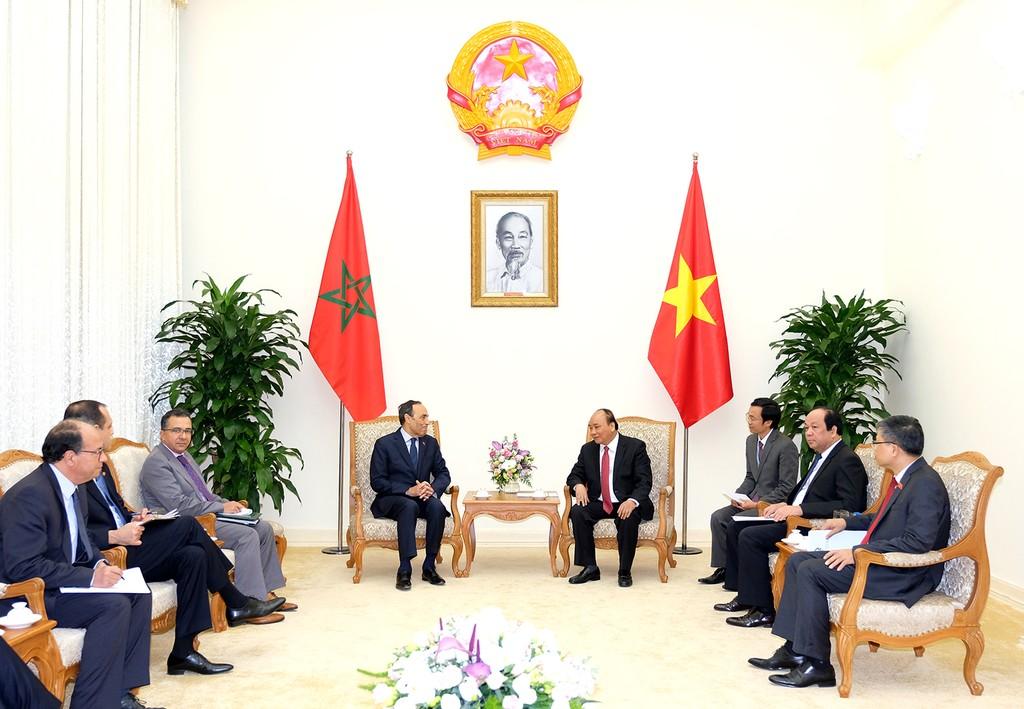 Thủ tướng Nguyễn Xuân Phúc tiếp Chủ tịch Hạ viện Marocco - ảnh 1