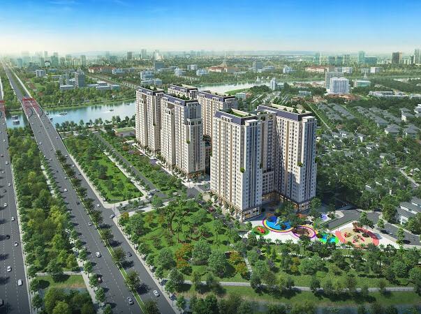 Phối cảnh dự án Khu cao ốc ven sông Dream Home Riverside