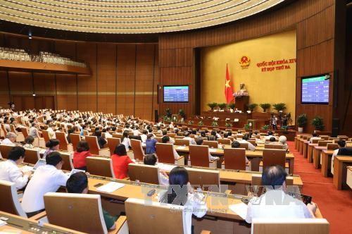 Chiều 20/6/2017, Quốc hội thông qua toàn văn Luật sửa đổi, bổ sung một số điều của Bộ luật hình sự số 100/2015/QH13. Ảnh: TTXVN