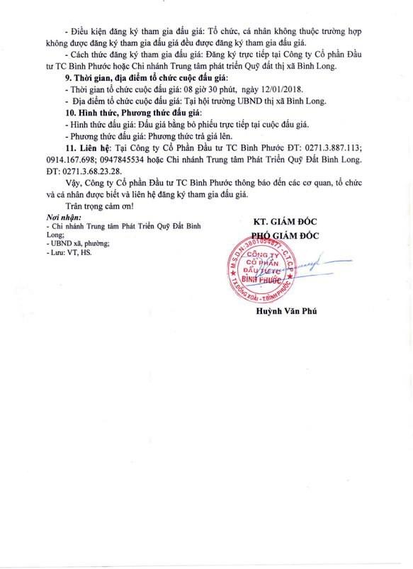 Đấu giá quyền sử dụng đất tại thị xã Bình Long, Bình Phước - ảnh 4