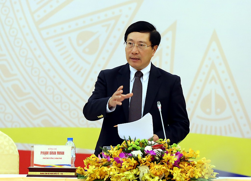 Phó Thủ tướng Phạm Bình Minh phát biểu tại Hội nghị. Ảnh: VGP