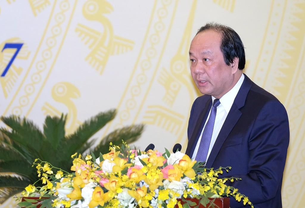 Bộ trưởng, Chủ nhiệm Văn phòng Chính phủ Mai Tiến Dũng phát biểu tại Hội nghị. Ảnh: VGP