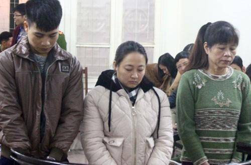 Các bị cáo Tuấn, Linh, Thì (từ trái qua).