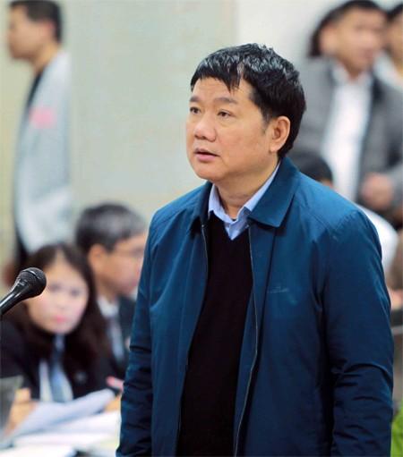 Ông Đinh La Thăng tại tòa sáng 8/1. Ảnh: TTXVN.