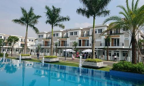Một dự án nhà phố xây sẵn tại xã vùng ven Sài Gòn được tiêu thụ tốt trong các tháng cuối năm 2017.