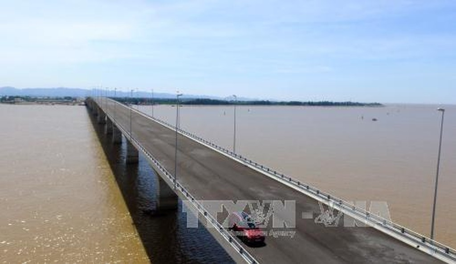 Cầu vượt biển Tân Vũ - Lạch Huyện. Ảnh: TTXVN
