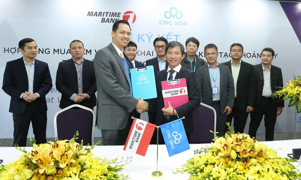CMC SISG ký hợp đồng mua sắm và triển khai hệ thống khởi tạo khoản vay với Maritime Bank