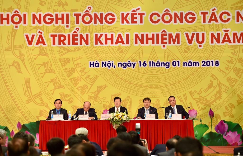 Phó Thủ tướng Trịnh Đình Dũng dự và phát biểu chỉ đạo tại Hội nghị. Ảnh: VGP