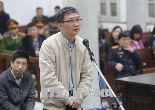 Bị cáo Trịnh Xuân Thanh nói lời nói sau cùng tại phiên tòa sáng 17/1.