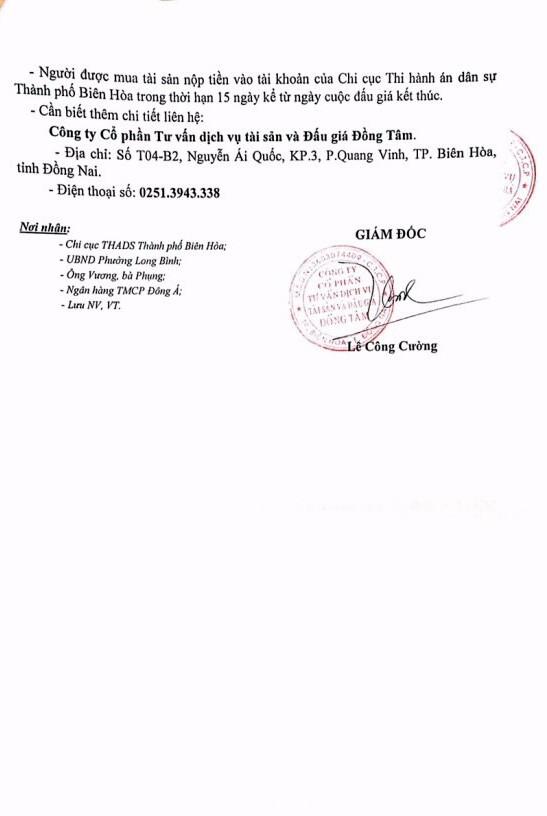 Đấu giá quyền sử dụng đất và CTXD tại TP.Biên Hòa, Đồng Nai - ảnh 5