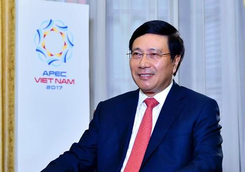 Ủy viên Bộ Chính trị, Phó Thủ tướng Chính phủ, Bộ trưởng Ngoại giao Phạm Bình Minh. Ảnh: VGP