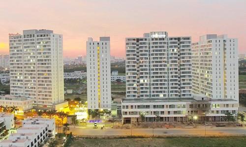 Những block căn hộ bình dân giá phổ biến 1,1-1,3 tỷ đồng/căn có sức tiêu thụ tốt tại quận 2, TP HCM.