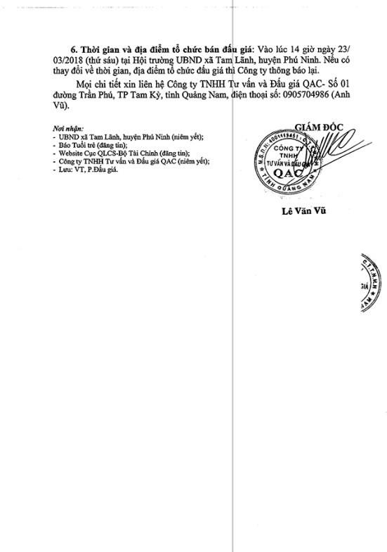 Đấu giá quyền sử dụng đất tại huyện Phú Ninh, Quảng Nam - ảnh 3
