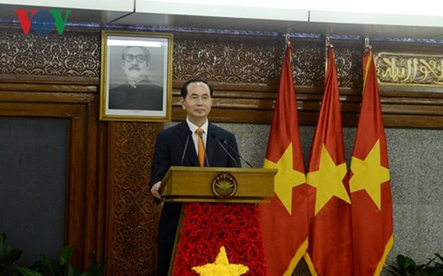 Chủ tịch nước Trần Đại Quang phát biểu tại buổi họp báo