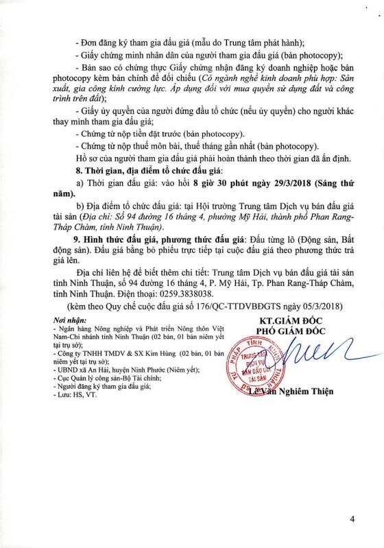 Đấu giá quyền sử dụng đất và máy móc thiết bị tại TP.Phan Rang-Tháp Chàm, Ninh Thuận - ảnh 4